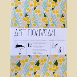 Упаковочная бумага Набор 01 Ар Нуво (Модерн) / Art Nouveau: Gift Wrapping Paper Book Vol. 1