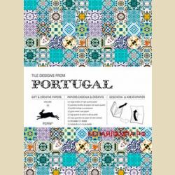 Бумага упаковочная (подарочная бумага) Плитка из Португалии / Tile Designs from Portugal: Gift and creative paper book
