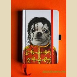 10 х 15 см  Small Famous Faces Jornal  Michael  / Записная книжка линованная на резинке  Майкл