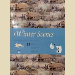 Бумага упаковочная (подарочная бумага) Зимние пейзажи / Winter Scenes: Gift and creative paper book