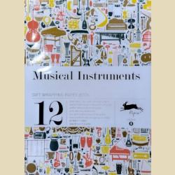 Бумага упаковочная (подарочная бумага) Музыкальные инструменты / Musical instruments Gift Wrapping Paper Book