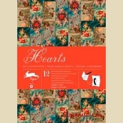 Бумага упаковочная (подарочная бумага) Сердечки / Hearts: Gift and creative paper book